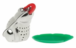 HIC Tea Infuser with Drip Tray, Frog and Lily Pad, 18/8 Stainless Steel with ... - $12.75