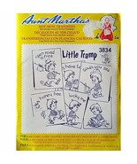 Little Tramp Aunt Marthas 3834 Vintage Hot Iron Transfer Needlework c1667 - $6.99