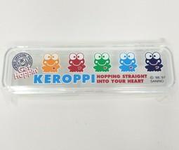 Vintage 1997 Sanrio Smiles KEROPPI Stationery Clear Plastic Case Get Hop... - $32.38