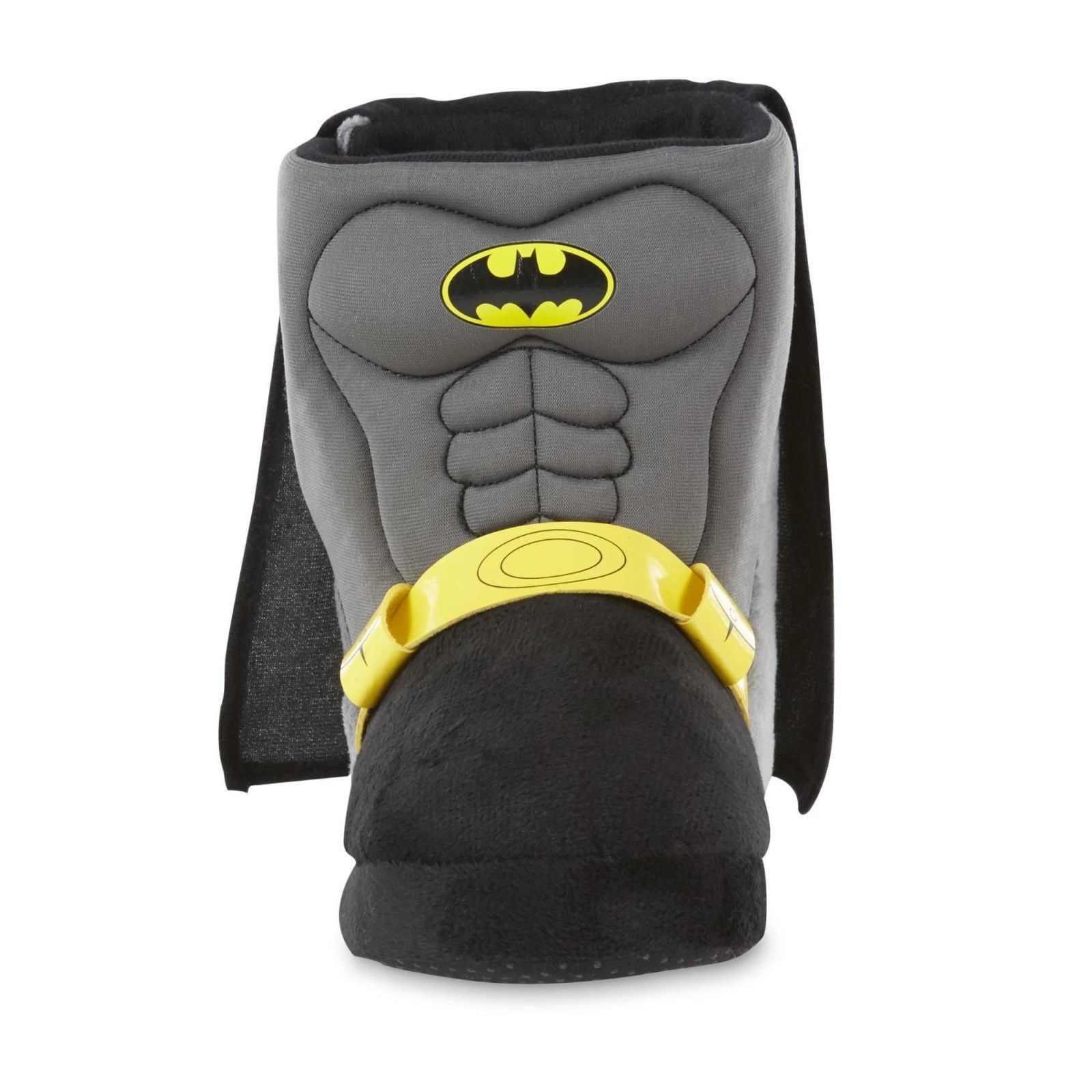 DC Comics Batman Slippers Slip On Cape Bat Symbol Size 7/8 9/10 11/12 2/3