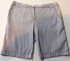 Merona Shorts Size 12 Nautical Blue White Stripe - $13.85