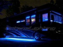 """OCTANE LIGHTING 4Pc 12"""" Rv Motorhome Trailer 15 Blue Led Under Glow Waterproof L - $19.75"""