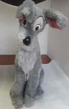 """Disney Store Lady and the Tramp Scamp Large 16"""" Soft Plush Gray Puppy Dog - $13.76"""