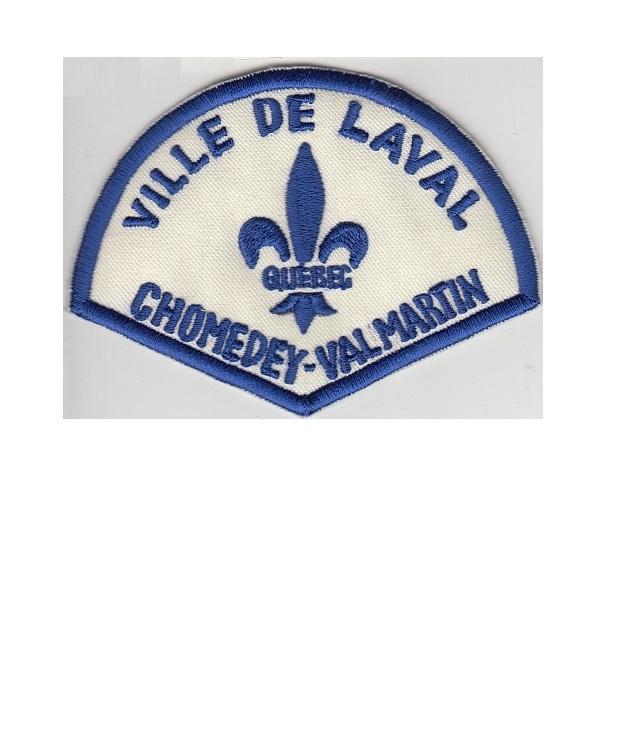 Ice department ville de laval secteur chomedey   val martin service de police 3.5 x 4.75 in 9.99