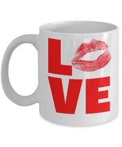 Love Kiss Lips.11 oz White Coffee or Tea Mug - $15.99