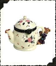 "Boyds Treasure Box ""Verna's Teapot w/Chamomile McNibble"" #392122- New- 2004 - $36.99"