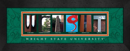 Wright State University Officially Licensed Framed Campus Letter Art - $39.95