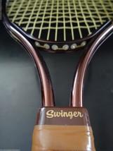 Vintage Sports Display Leach Swinger Racket Racquetball in Wilson Brown ... - $13.31