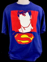 Superman DC Comics Blank Face Logo Superhero Mens Royal Blue T-Shirt Tee - $11.21