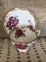 Adderley Bone China Rose Tea Cup and Saucer Vintage  - $28.84