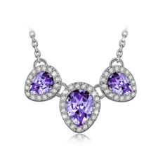 "J.NINA ""Happy Iris"" Women Jewelry Gift Made with Swarovski Crystals, Bib... - $22.00"