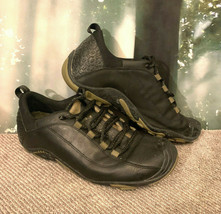 Merrell Lace Black Leather Low Forecast Womens 8.5 US Vibram Sole all weather - $31.67