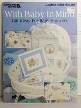 With Baby In Mind, 13 Cross Stitch Patterns Vintage New 1990, Debra Jordan Meyer - $2.48