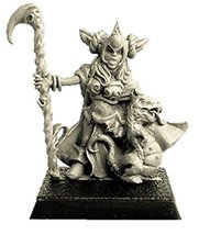 Spellcrow 28mm Fantasy Miniatures: Female Halfling and Little Dragon