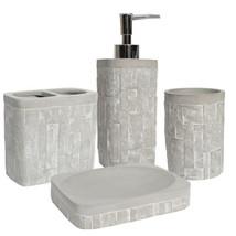 Avalon Concrete Bath Accessory Collection 4 Piece Bathroom Set - $27.99