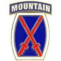 US ARMY 10th Mountain Division Military Pin New!!! @ - $5.93