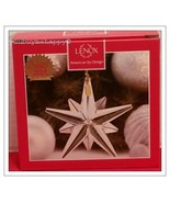 Lenox  Christmas Optic Glass Star Ornament New in Box - $49.50