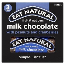 Eat Natural Peanuts, Cashews, Cranberries & Milk Chocolate Bars (3x45g) - $28.99