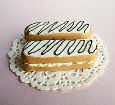 Eclair White Dessert Treat Set of 2 - Perfect for 18 Inch American Girl Dolls - $12.99