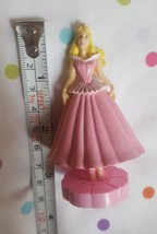 Disney Authentic Princess FIGURINE Cake TOPPER PINK DRESS pre-owned nice... - $14.85