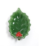 Martha Stewart Holiday Garden Nut / Candy Bowl Holly Leaf with Berries New - $19.99