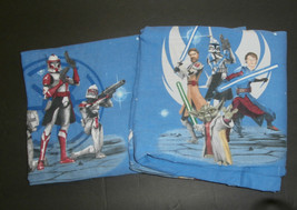 Star Wars The Clone Wars Twin Flat & Fitted Sheet Set Storm Troppers Jedi - $14.50