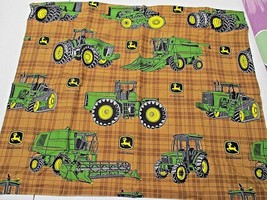 John Deere Pillow Sham Scene Weaver Tractors 25 x 30 - $282,89 MXN