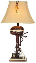 "Vintage Style Fishing Boat Outboard Motor Table Lamp Nautical Lake Rustic 32""H - $124.00"