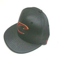 New Era Cleveland Cavaliers 59Fifty PU Leather Fitted Hat Black Size 7 1/8 - $31.99