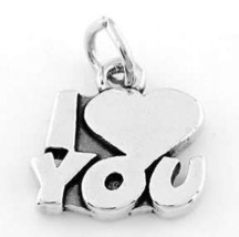 925 STERLING SILVER I LOVE YOU CHARM/PENDANT - $11.02