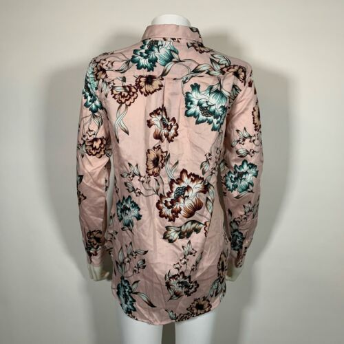 Lauren Ralph Lauren Top Blouse Floral Pink Cotton Button up Shirt Sz XL NEW NWT image 3