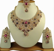 Zicsy Ethnic Jewelry CZ Gold Plated Alloy Necklace Set Combo BOHH268 - $54.00