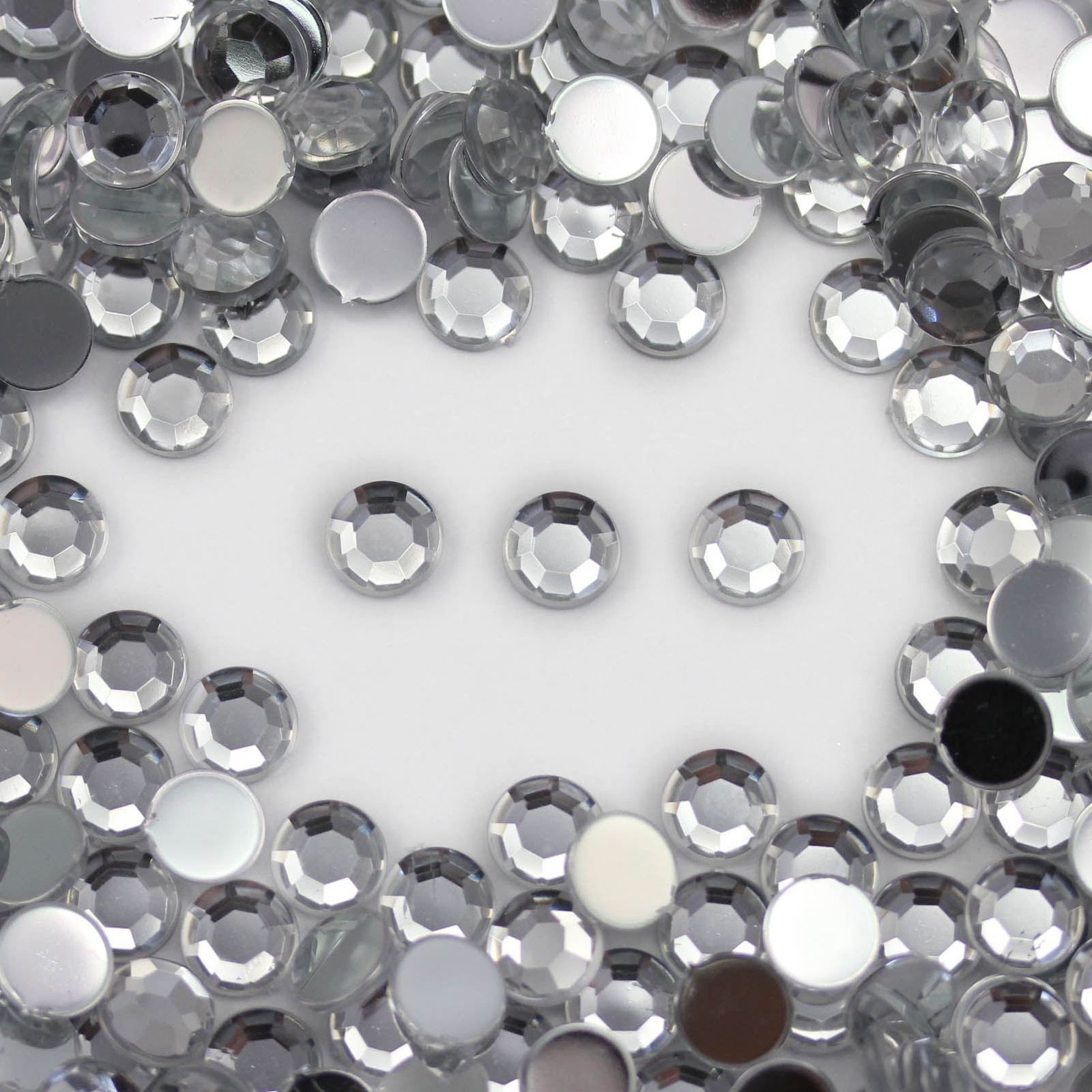 8mm SS40 Crystal Self Adhesive Rhinestones For Cards And Invitations  - 50PCS
