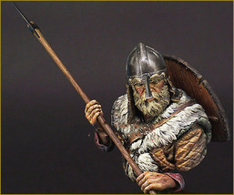 VIKING WARRIOR soldier bust figure Historical WWII Resin Figure miniatur... - $43.80