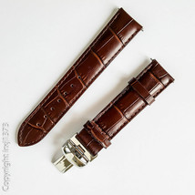 New Leather Strap Watchband for Tissot T461 T014417A T171186A 19mm brown - $38.61