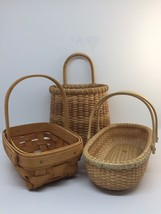 Lot of 3 Small Baskets 1 1995 Longaberger 2 Unbranded - $14.50
