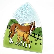 Fused Art Glass Mare & Foal Horse Nightlight Night Light Handmade in Ecuador image 2