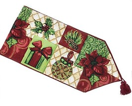 Tache Festive Decorative Christmas Ornaments Table Runner 13X90 IN - $29.99