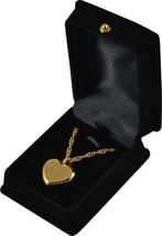 """Gold Heart Pendant w/20"""" chain & black velvet display box - $149.99"""