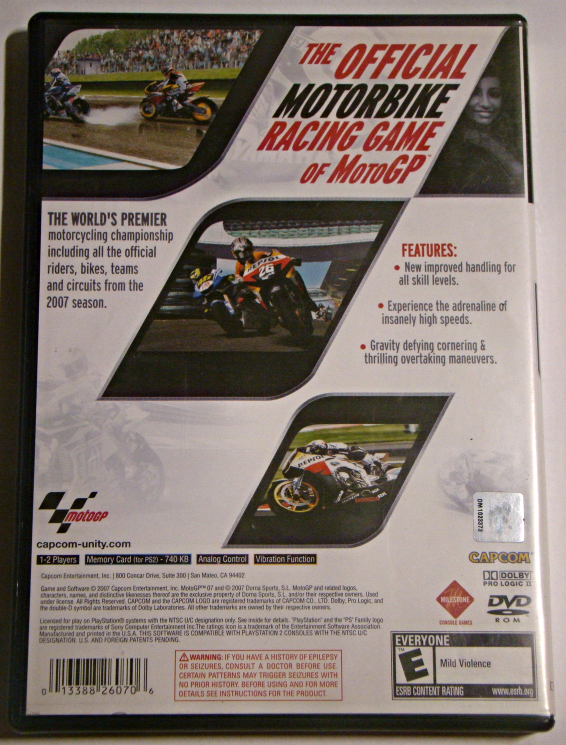 Playstation 2 - Moto GP 07 (Complete with Manual)