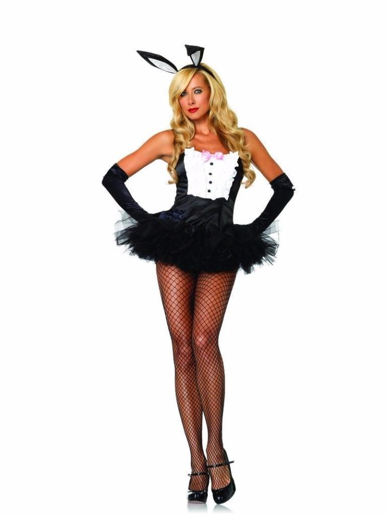 Leg Avenue Women's Sexy Tuxedo Bustier Corset Top Halloween Costume 83761 Size L