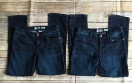 Lot of 2~OshKosh B'Gosh Girls Dark Blue Denim Skinny Jean Size 8 NWOT *Defects* - $18.66