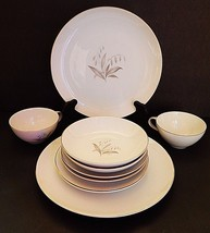 Golden Rhapsody Kaysons China White Gold Rimmed 10 PIECE Japan 2 Place S... - $44.54