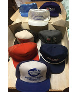 Lot of 8 Varied Vintage 80s & 90s Advertising Trucker Hats EXC never worn - $52.20