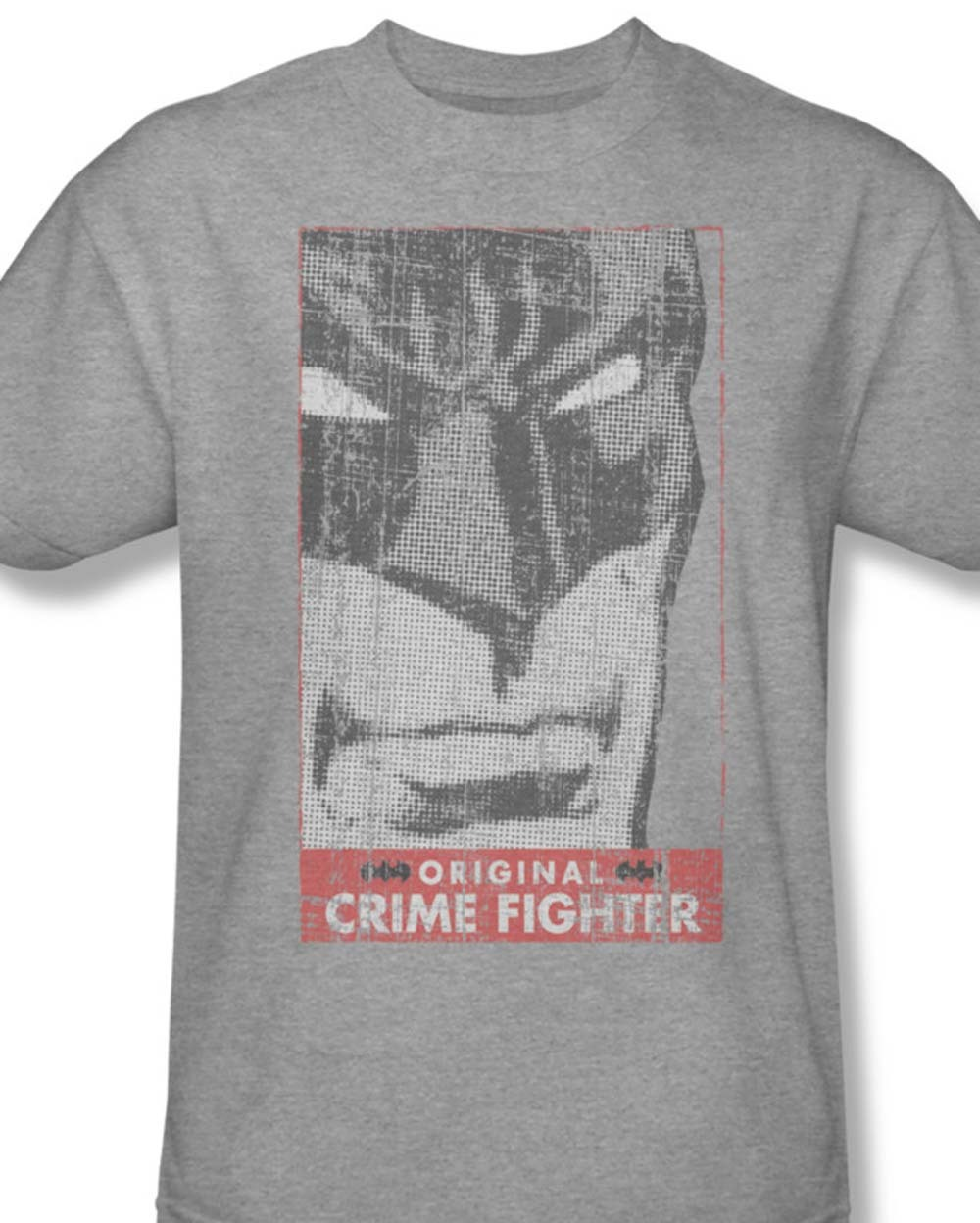 Bm1633 at batman crime fighter classic gray dc tshirt