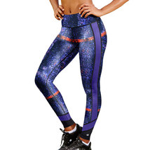 Champion Purple Multi Blurred Abstract Workout Yoga Tights Womens S XL N... - €24,81 EUR