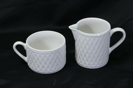 Oneida Wicker Cups and Cream Pitcher Lot of 9 - $39.19