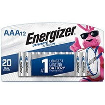 Energizer AAA Lithium Batteries, Ultimate Lithium Triple A Battery-12 Count - $19.59