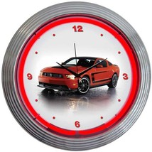 "Ford Mustang Boss 302 Licensed Neon Clock 15""x15"" - $69.00"