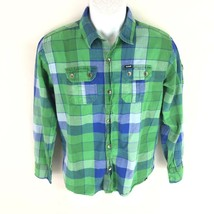 Hurley Boys Blue Green Button Shirt XL - $16.82